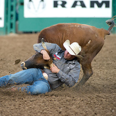 Steer Wrestling - Reno Rodeo