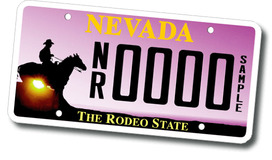 License Plate Reno Rodeo